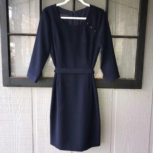 Anne Klein navy blue dress, classic silhouette